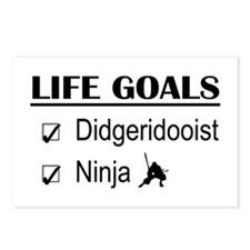 Didgeridooist Ninja Life Postcards (Package of 8)