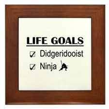 Didgeridooist Ninja Life Goals Framed Tile