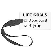 Didgeridooist Ninja Life Goals Luggage Tag