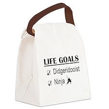Didgeridooist Ninja Life Goals Canvas Lunch Bag