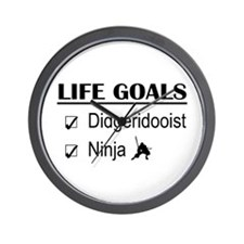 Didgeridooist Ninja Life Goals Wall Clock