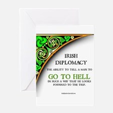 Irish diplomacy Greeting Cards