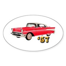 57 Red Chevy Decal