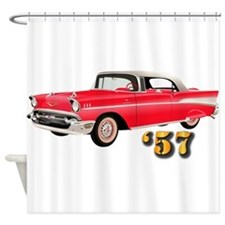 57 Red Chevy Shower Curtain