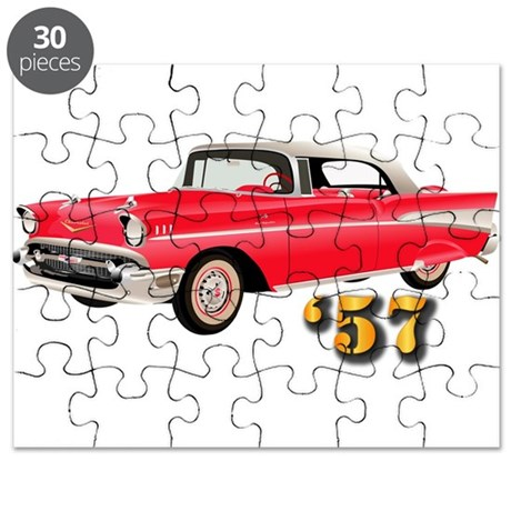 57 Red Chevy Puzzle