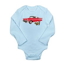 57 Red Chevy Long Sleeve Infant Bodysuit