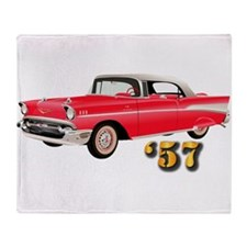 57 Red Chevy Throw Blanket