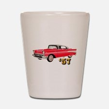 57 Red Chevy Shot Glass