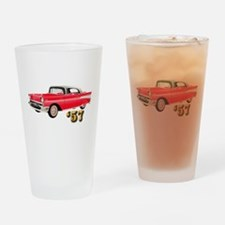 57 Red Chevy Drinking Glass