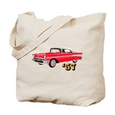 57 Red Chevy Tote Bag