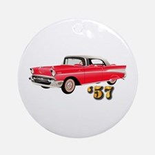 57 Red Chevy Ornament (Round)