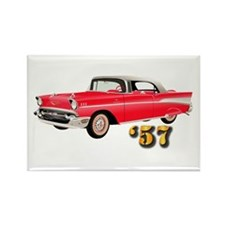 57 Red Chevy Rectangle Magnet