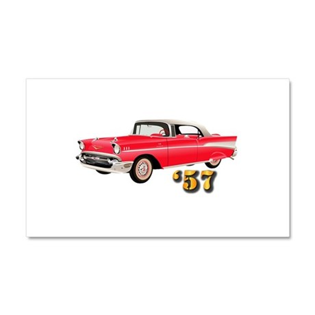 57 Red Chevy Car Magnet 20 x 12