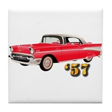 57 Red Chevy Tile Coaster