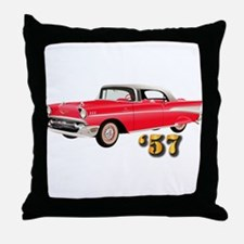 57 Red Chevy Throw Pillow
