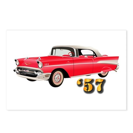 57 Red Chevy Postcards (Package of 8)