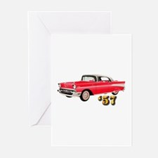 57 Red Chevy Greeting Cards (Pk of 10)