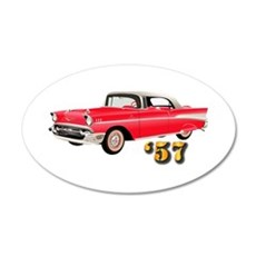 57 Red Chevy Wall Decal