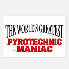 """The World's Greatest Pyrotechnic Maniac"" Postcard"