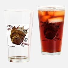 Spread Love! Drinking Glass