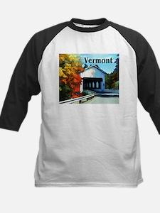 White Covered Bridge Colorful Autumn Vermont Baseb