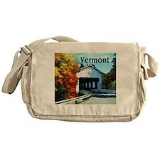 White Covered Bridge Colorful Autumn Vermont Messe