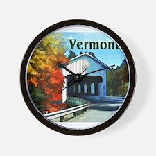 White Covered Bridge Colorful Autumn Vermont Wall