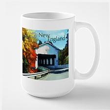 White Covered Bridge Colorful Autumn New England M