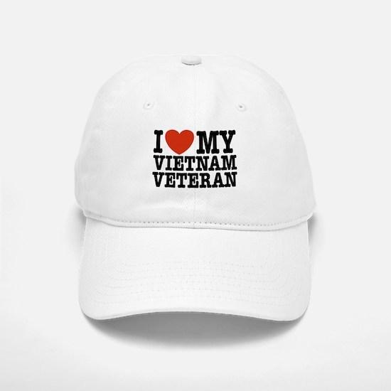 I Love My Vietnam Veteran Baseball Baseball Cap