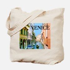 Gondolier in Canal in Venice Tote Bag