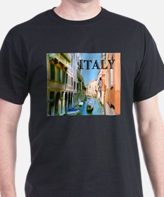 Gondolier in Canal in Venice ITALY T-Shirt