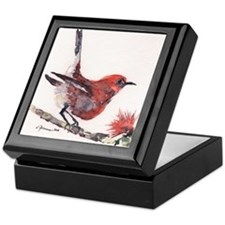 Apapane Bird Keepsake Box