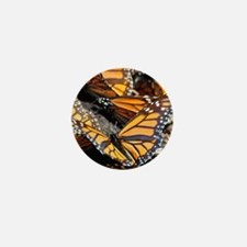 Butterfly 1 Square Mini Button