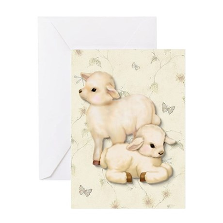 Lamb Pair Greeting Card