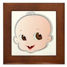 Baby Face 3 Framed Tile