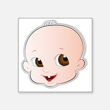 """Baby Face 3 Square Sticker 3"""" x 3"""""""