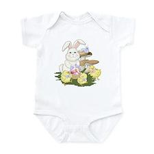 Easter Bunny & Chicks Infant Bodysuit