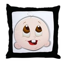 Baby Face 4 Throw Pillow