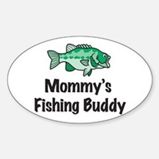 Mommy's Fishing Buddy Oval Decal