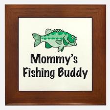 Mommy's Fishing Buddy Framed Tile