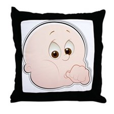 baby face 1-2 Throw Pillow