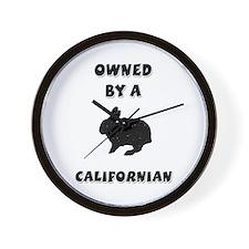 California Rabbit Wall Clock