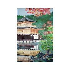 Rokuonji Kinkaku Temple Rectangle Magnet