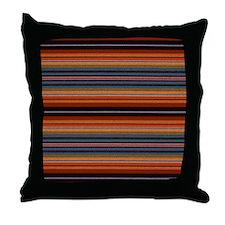 Dark horizontal pinstripes Throw Pillow