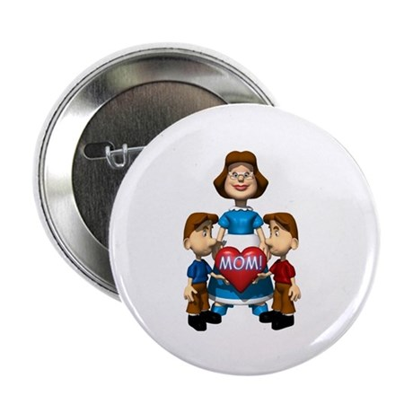 "Mom with Kids 2.25"" Button (10 pack)"