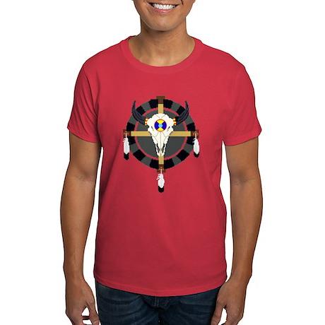 Skull Medicine Wheel Dark T-Shirt