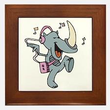 Rockin' Dancing Rhino Framed Tile