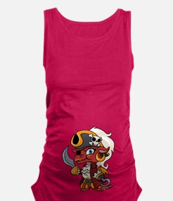 Baby Pirate Dragon Maternity Tank Top