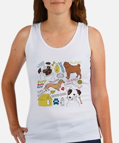 Dogs Colored P Women's Tank Top