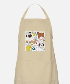 Dogs Colored P Apron